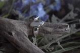 Ring 925 Silber offen sehr fein und hübsch mit Regenbogenmondstein und Labradorit