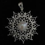 Amulett mit Süsswasser-Perle 925 Sterlingsilber 40mm AH199