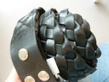 Ledergürtel 38mm Black geflochten