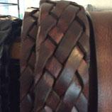 Ledergürtel 38mm Braun geflochten