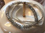 1x Armband Labradorit  5mm/  1 x 925 Silberkugel-Armbändeli facettiert 1x 2mm und 1 x 3mm