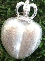 Anhänger 925 Silber Herz mit Krone 2,8cm x 2,0cm