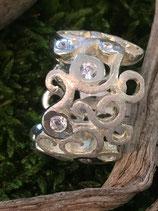 Ring 925 Silber mit div. Zirkoniasteinen