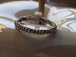 Ring 925 Silber fein mit Kügeli geschwärzt