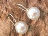 Ohrhänger  925 Silber mit Perlen 1.0cm x 1,0cm