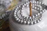 2x Armband Süsswasserperlen zart Grau mit 925 Silberkugel-Armband