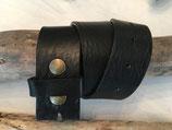 Ledergürtel 38mm  Schwarz