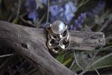 Ring 925 Silber wunderschönes Design mit echter Süsswasserperle