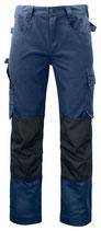 5532 Pantalon renforcé marine contrasté noir