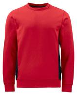 2127 pull pour l'hiver rouge contrasté noir