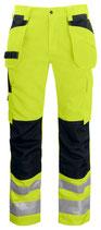 6531 Pantalon poche volante classe 2 noir/jaune