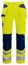 6531 Pantalon poche volante classe 2 marine / jaune