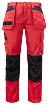 5531 Pantalon renforcé rouge contrasté noir