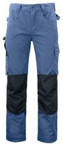 5532 Pantalon renforcé bleu clair contrasté noir