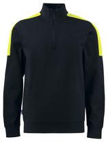 2128  Pull noir/jaune