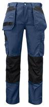 5531 Pantalon renforcé marine contrasté noir