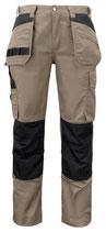 5531 Pantalon renforcé beige contrasté noir