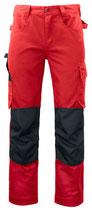 5532 Pantalon renforcé rouge contrasté noir