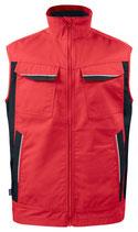 5704 Gilet pour l'hiver doublé, rouge contrasté noir