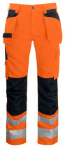 6531 Pantalon poche volante classe 2 noir/orange