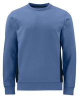 2127 pull pour l'hiver bleu contrasté noir