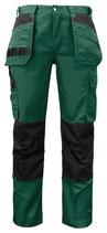 5531 Pantalon renforcé vert contrasté noir