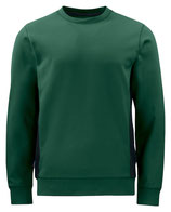 2127 pull pour l'hiver vert contrasté noir