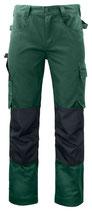 5532 Pantalon renforcé vert contrasté noir