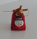 Red Large Faced Snow Man Christmas Gift Sack