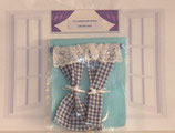 Dark Blue & White Checked Gingham Country Curtain Range