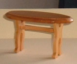 Oval Low Pine Table
