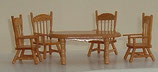 Oval Pine Table and 4 Chairs