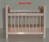 Pink Wooden Cot