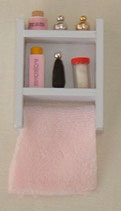 White Toiletries Wall Unit