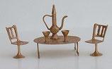 6-Piece Brass Table & Chair Set