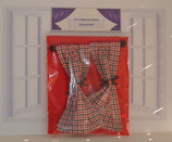 Red & Back Checked Gingham Country Curtain Range