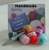 Knitting Wool & Pair Of Knitting Needles