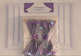 Purple & White Checked Gingham Country Curtain Range