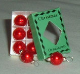 Box of Red Christmas Baubles