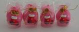 Pink Christmas Sack with Christmas Stocking Motif