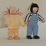Twin Toddler Wooden Dolls