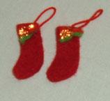 Pair of Red Christmas Stockings