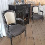 Paire de fauteuils style Louis XVI - VENDU