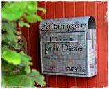 Personalisierter Briefkasten mit eigenen Fotos und Namen