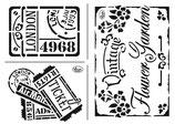 """Universal-Schablone """"Vintage Flower Garden"""""""