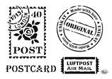 "Universal-Schablone ""Postcard"""