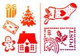 """Universal-Schablone """"Kleine Weihnachtsmotive"""""""