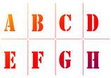 """Universal-Schablone """"Alphabet & Zahlen"""""""