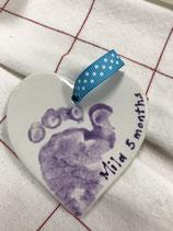 Heart-Flat Ornament