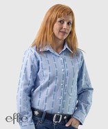 Edelweiss-Bluse für Damen - hellblau